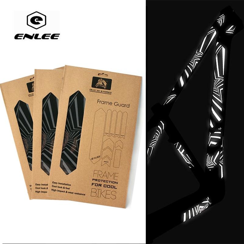 Износостойкая 3d-наклейка ENLEE для велосипеда, Светоотражающая наклейка, повтор, клейкая рама для велосипеда, наклейки, аксессуары для велоспорта