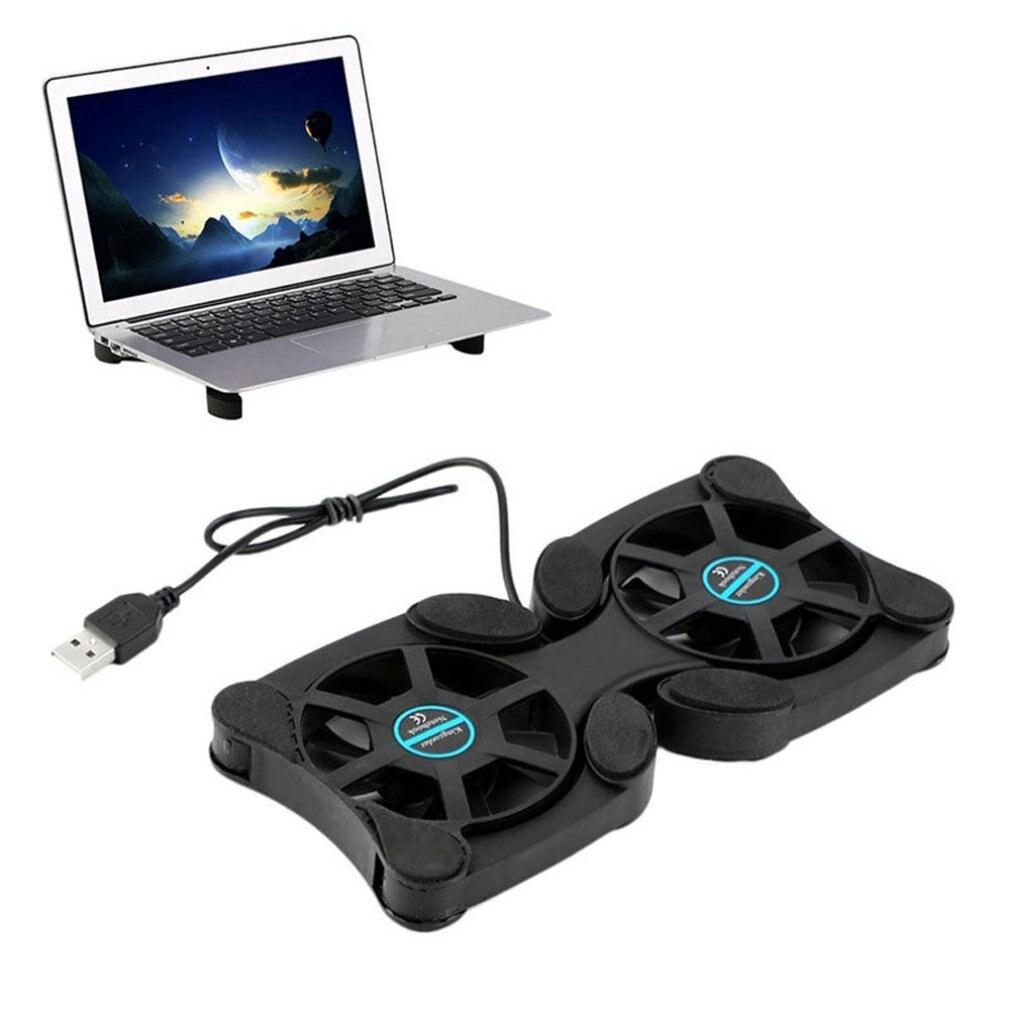 Mini portátil ventilador refrigerador para Laptop plegable Dual Usb refrigerador ventilador de...