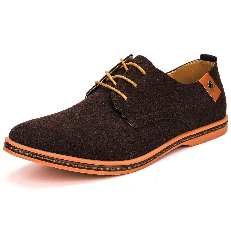 الرجال Oxfords فستان جلد طبيعي أحذية البروغ الدانتيل يصل رجل حذاء كاجوال ماركة فاخرة الأخفاف المتسكعون الرجال 2021 حجم كبير 38-48