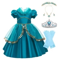 girl princess dress kids jasmine dress up fancy costume children jasmine arabian princess costume baby girl birthday party dress