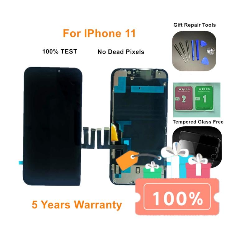 Pantalla LCD Original para iPhone 11 con digitalizador de pantalla táctil 3D, pantalla de repuesto para iPhone 11 Pro/ Pro Max