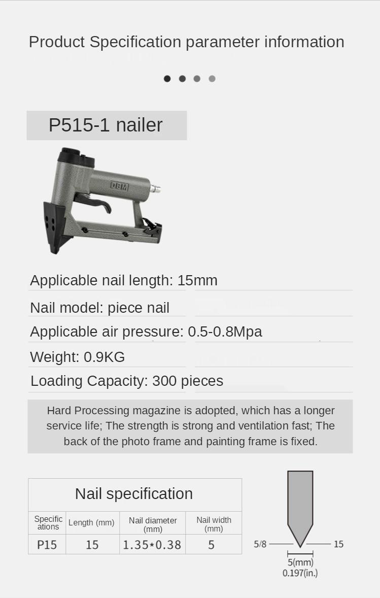 Pneumatic film nail gun, photo frame nail gun, melon seed nail gun enlarge