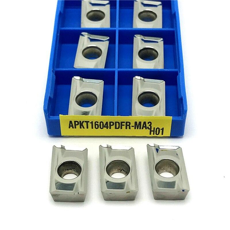 Inserções de alumínio apkt1604 pdfr ma3 h01 para torno de alumínio ferramenta carboneto fresagem de madeira ferramentas de torneamento apkt 1604 inserções de trituração