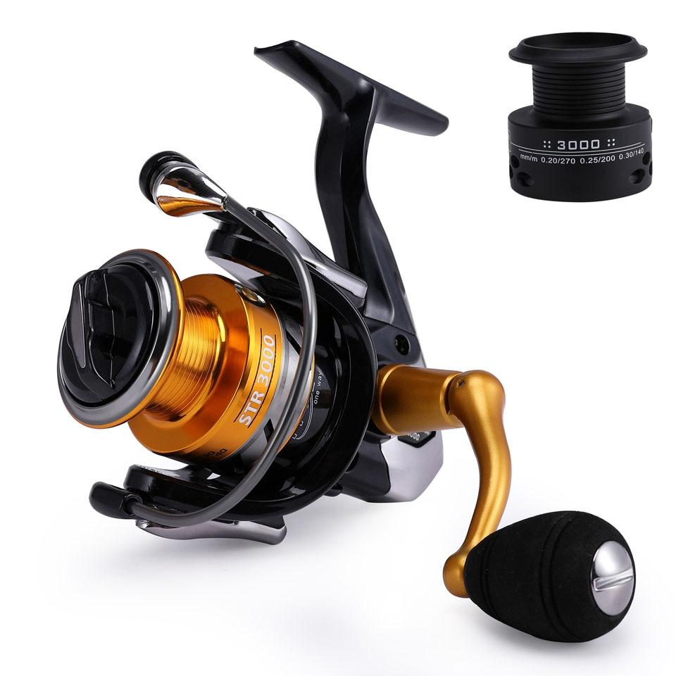 Carp Fishing Reel Free Runner Spinning Reel HTR1000/2000/3000 Free Extra Spool  14+1 Ball Bearing Spinning Reel