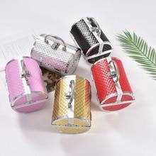 Wenjie frère oreiller conception en alliage daluminium maquillage boîte étui de maquillage étui de beauté sac cosmétique Multi niveaux verrouillable boîte à bijoux