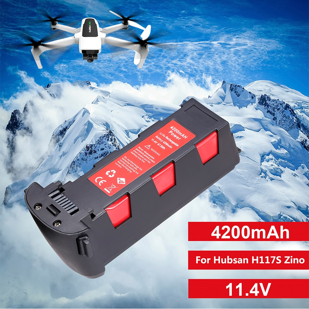 New Arrival SALE! 11.4V 4200mAh Battery For Hubsan H117S Zino GPS RC Drone Quadcopter Spare Parts In
