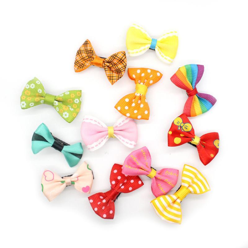 10pcs/set Child Duckbill Hairpins Bow Hair Clip Mini Cute Bobby Pin Candy Color Hairpin Durable Headband Ribbon Hair Gift