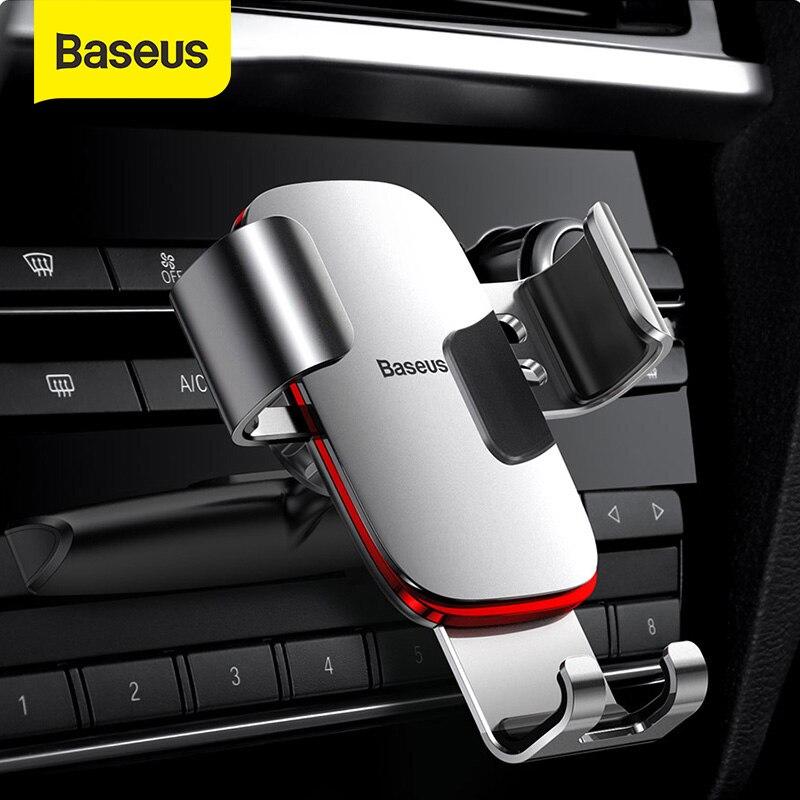 Автомобильный держатель для телефона Baseus с креплением на решетку вентиляции/CD слот держатель для телефона Подставка для iPhone Samsung металлический гравитационный держатель   Мобильные телефоны и аксессуары   АлиЭкспресс
