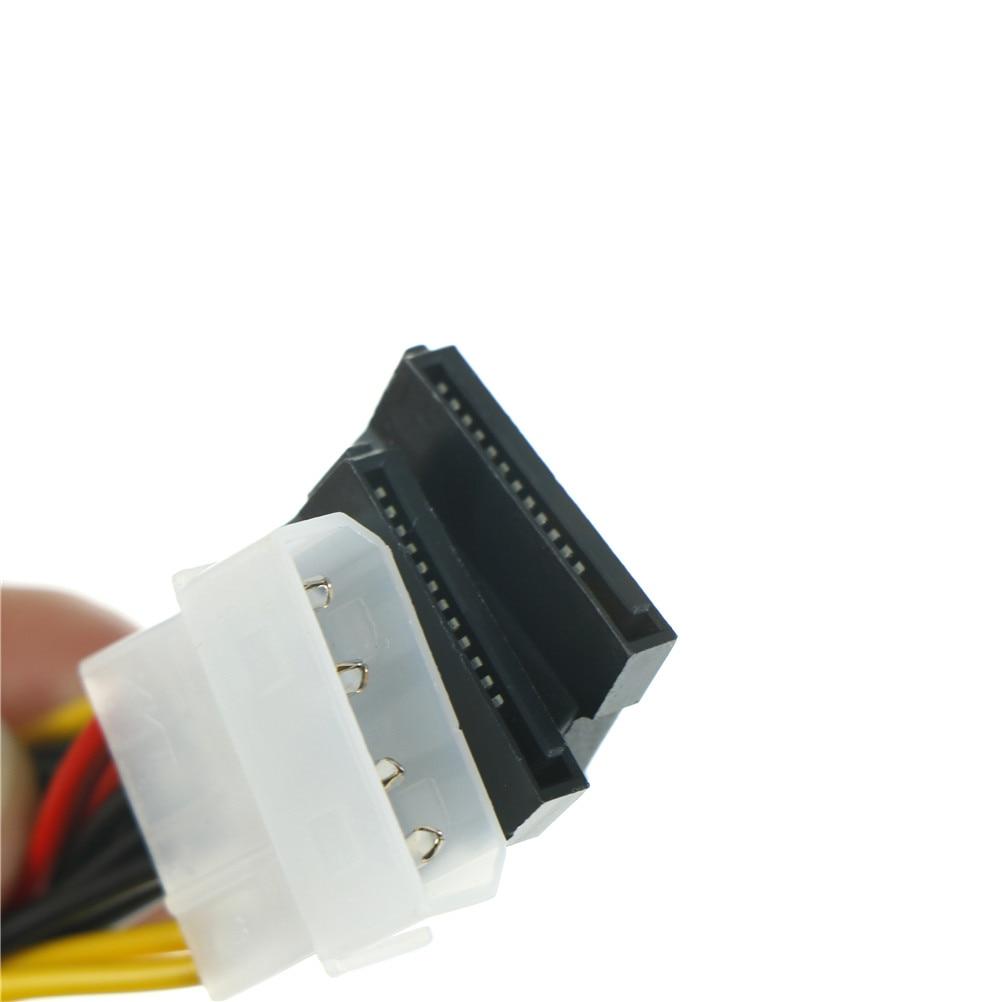 2pcs/lot SATA Power Cable Splitter 4 Pin To Serial 15 Pin Y Splitter Hard Drive IDE Power Cables Cable Adapter sata to esata 4 pin ide power port bracket cable w power cable esata cable black red silver