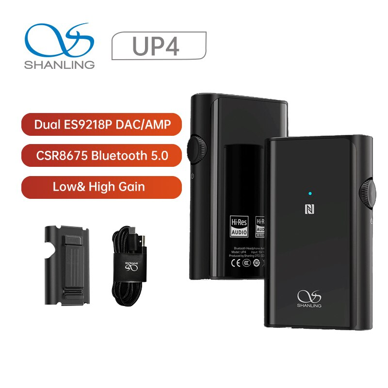 SHANLING-مضخم صوت سماعات الأذن المحمول UP4 ، ES9218P DAC/AMP HiFi CSR8675 ، Bluetooth 5.0 ، خرج متوازن