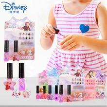 Disney Frozen 2 princesse filles ongles autocollants maquillage jouets ensemble lavable vernis à ongles Sofia poney semblant jouer jouet enfants petit cadeau