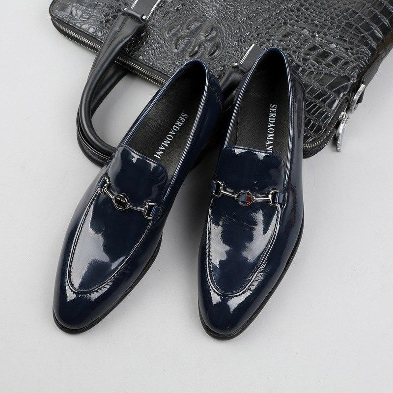 Zapatos De Vestir De charol genuino para Hombre, Zapatos formales De negocios,...