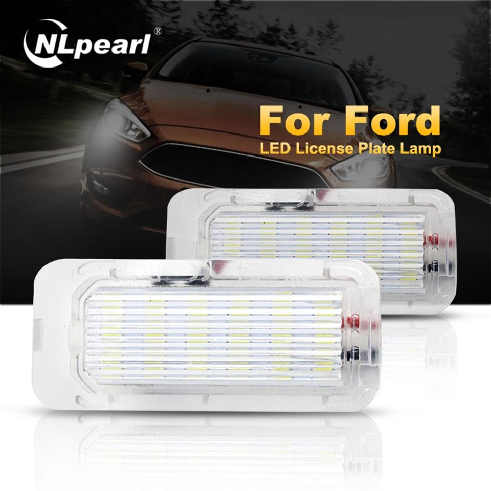 Nlpearl 1 par Canbus brillante LED para placa de matrícula de luz enfoque 5D Mondeo Fiseta DRL LED luz de día para Ford Error libre 12V