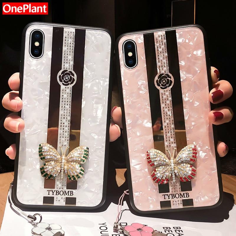 Роскошный креативный зеркальный Модный 3D инкрустированный чехол для телефона с бабочкой для iPhone 11 Pro X XR XS MAX чехол для iPhone 6 6s 7 8 Plus чехол
