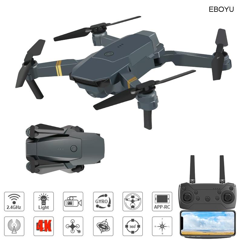 EBOYU E58 2,4 Ghz RC Drone Wifi FPV 4K/1080P HD Kamera Höhe Halten One Key Rückkehr/landung/Off Kopflose RC Quadcopter Drone Spielzeug
