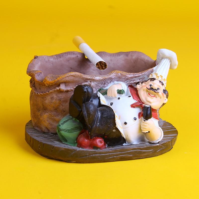 Скандинавский мультяшный шеф-повар, семейный шеф-повар, украшение для дома, стол для ресторана, настольные фигурки, маленькие модели игруше...
