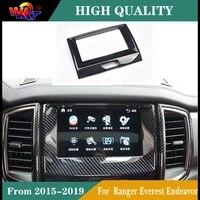 protective for ford ranger everest endeavor 2015 2019 carbon fiber center frame indoor navigation color cover accessories