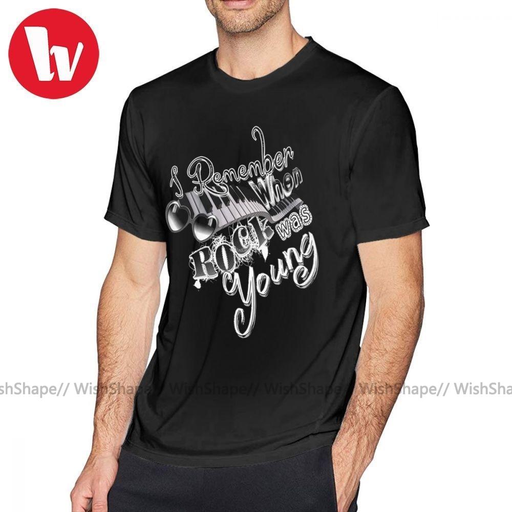 Elton John T Shirt I Remember When T-Shirt Printed Fun Tee Shirt 6xl Casual 100 Cotton Man Short Sleeves Tshirt