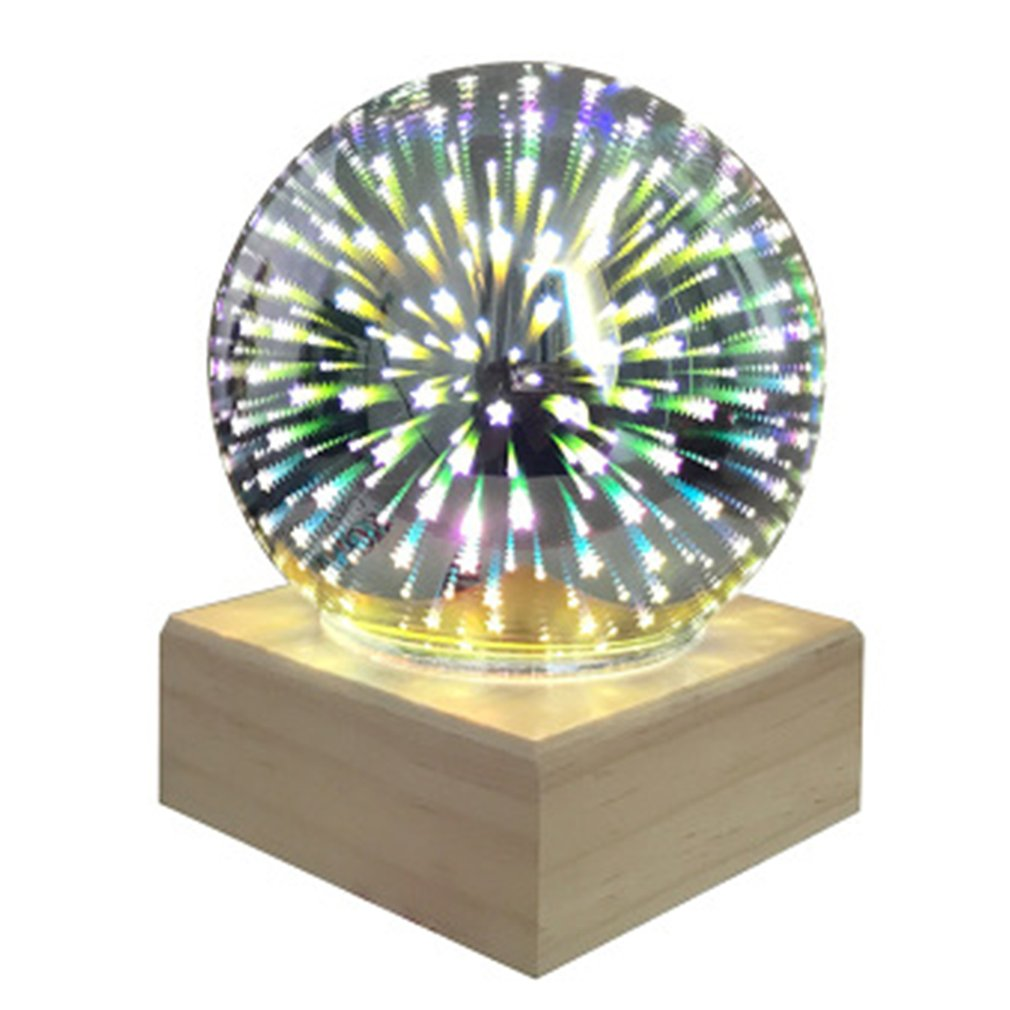 2019 hot sale led light 3d music crystal ball glass snowflake globe creative home decor birthday valentine s day gift for girl 3D Colorful Crystal Ball Crystal Night Light USB Plug-in LED Table Lamp Transparent Glass Couple Home Kids Gift