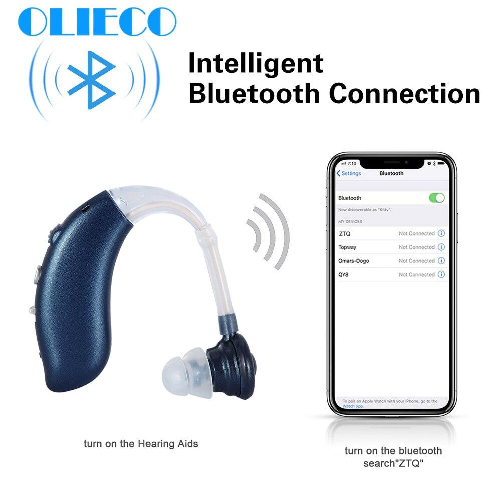 Bluetooth USB перезаряжаемые мини слуховые аппараты БТЕ для пожилых портативный звуковой усилитель Регулируемый тон Resound слуховой аппарат