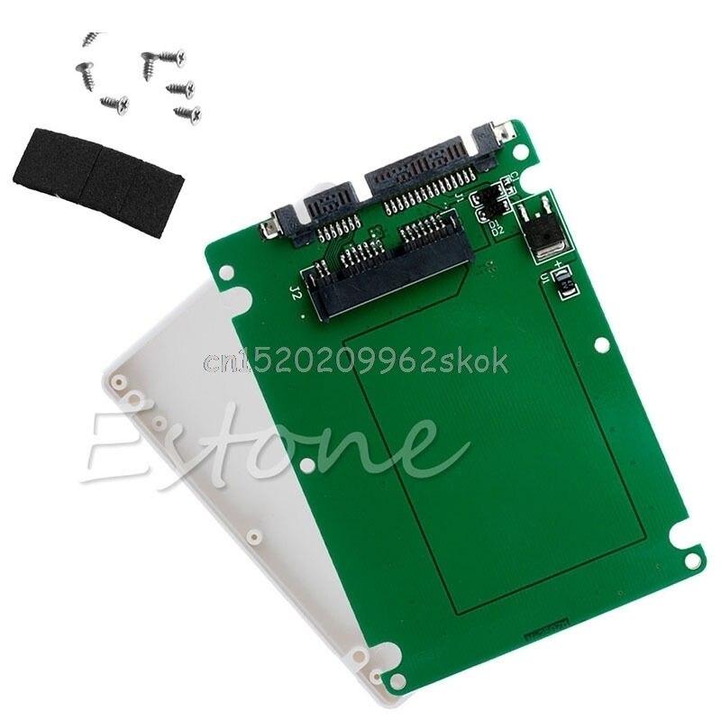 """1.8 """"micro sata ssd hdd para 2.5"""" sata adaptador conversor cartão com 7mm de espessura"""