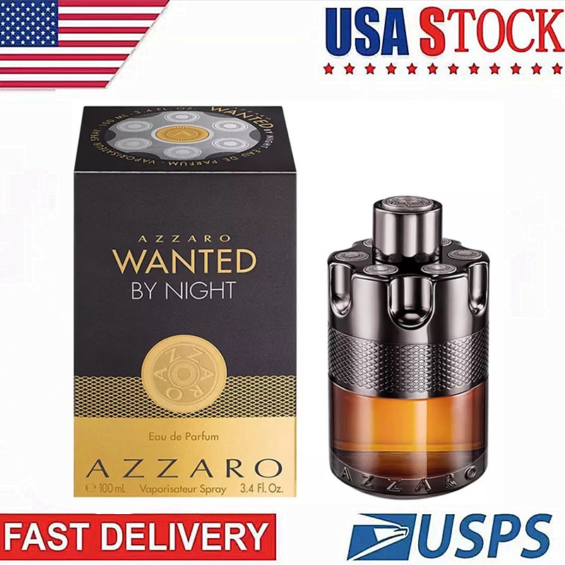 Men's Azzaro Wanted Parfum for Men Long Lasting French 100ML Cologne Antiperspirant Spray Fragrance Parfum