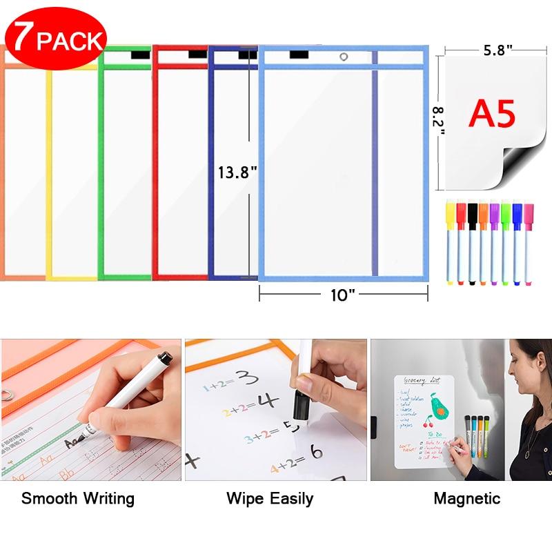 Мягкий магнитно-маркерная доска прозрачный со стирающейся от маркера карманы сообщение для рисования белая доска на дверь, используемые дл...