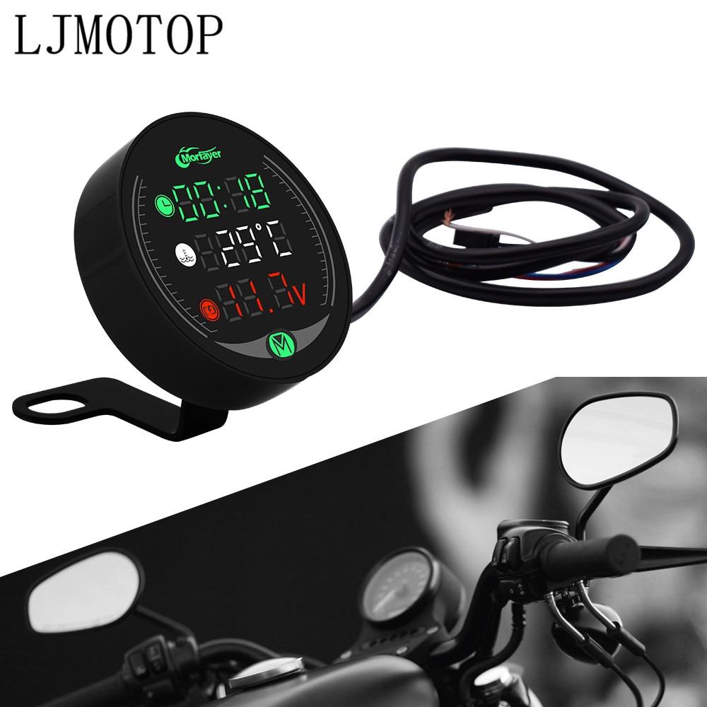 Para KTM 65, 85, 105, 125, 144, 150, 200, SX, XC, EXC, XC-W, SX-F, reloj voltímetro para motocicleta, Sensor medidor de temperatura y agua