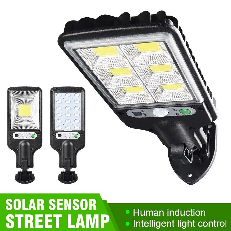 LED مصباح للطاقة الشمسية في الهواء الطلق مستشعر حركة مضاد للماء الجدار الخفيفة للمنزل الممشى قوية الشمسية ضوء الشارع حديقة الديكور