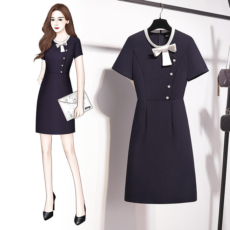 Summer 2021 New Women's Business Dress Temperament Goddess Style Front Desk Frock Jewelry Store Beau
