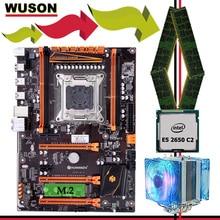 Marque carte mère ensemble en vente HUANANZHI deluxe X79 carte mère avec M.2 NVMe CPU Xeon E5 2650 C2 avec refroidisseur RAM 16G (4*4G) RECC