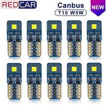 10 stuks Canbus Foutloos T10 Leb Lamp W5W 164 198 Licht Auto Interieur Lichtkoepel FLS35 Chips 6000K kofferbak Lamp Parking Lights12V