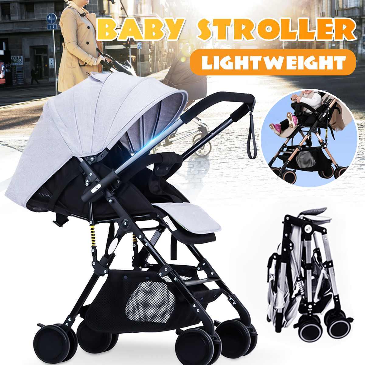 Cochecito de bebé avión ligero portátil viaje cochecito para niños 2 en 1 alto paisaje cochecito plegable cochecito para recién nacido