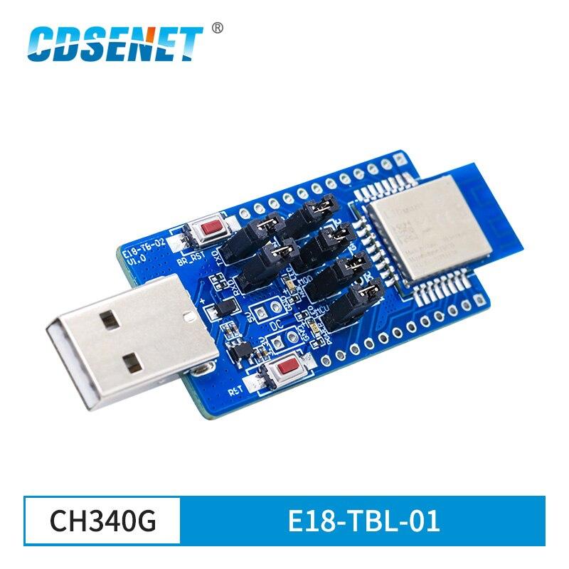 E18-TBL-01 USB a TTL UART CH340G Placa de prueba ZigBee módulo 2,4 GHz CC2530 E18-MS1-PCB