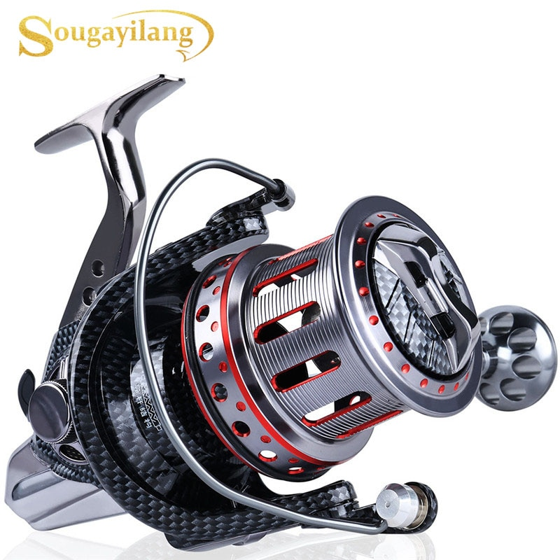 11BB Sea Fishing Reel Ratio 4.7:1 Big Spool Surf Long Casting Trolling Reels Feeder Spinning Fishing Reel Saltwater