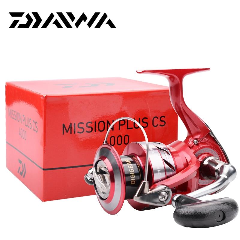 Original DAIWA MISSION PLUS CS Spinning Fishing Reels 2000/2500/3000/4000 4+1BB Gear Ratio 5.3:1 Max drag 2/4/6kg Reel Fishing