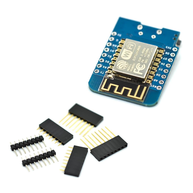 100pcs ESP8266 ESP-12 CH340G CH340 V2 USB WeMos D1 Mini WIFI Development Board D1 Mini NodeMCU Lua IOT Board 3.3V With Pins