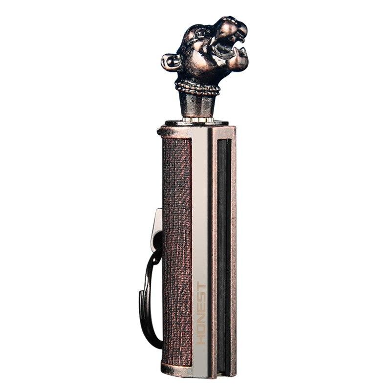 Permanent Match Instant Flint Fire Starter Lighter Kerosene Metal Keychain Lighter Portable Outdoor Survival Tool HONEST Lighter enlarge