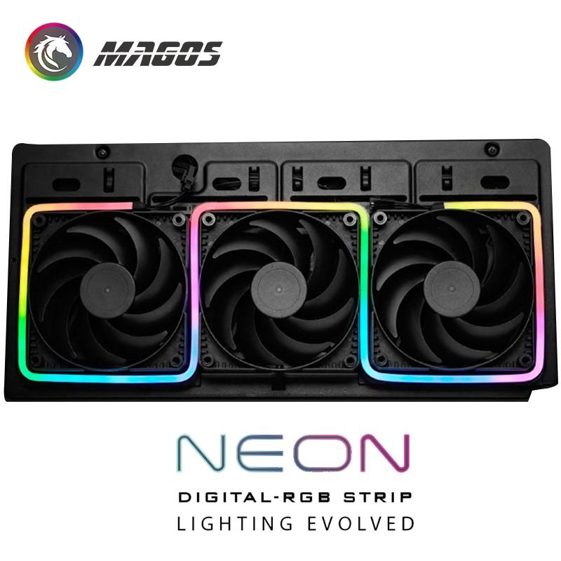 Phanteks PC Case MOD DIGITAL RGB NEON LED KIT, 5V 3Pin ARGB LED Strip Support ASUS/GIGA/MSI SYNC