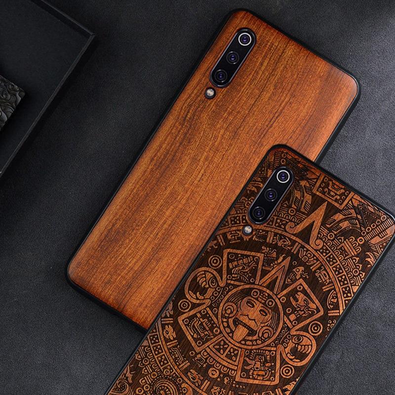 Phone Case For Xiaomi Mi 10 Mi 11 ultra 9t 9 Mix 3 Poco X3 NFC F2 Pro Original Wood Case For Redmi Note 10 Pro Phone Accessories