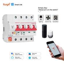 Protection intelligente de court-Circuit de surcharge de disjoncteur de WiFi de la vie 4P intelligente 220V avec Amazon Alexa pour la maison intelligente