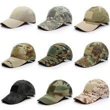 2020 Outdoor Sport Snap back Caps Camouflage Hut Einfachheit Taktische Militärische Armee Camo Jagd Kappe Hut Für Männer Erwachsene Kappe