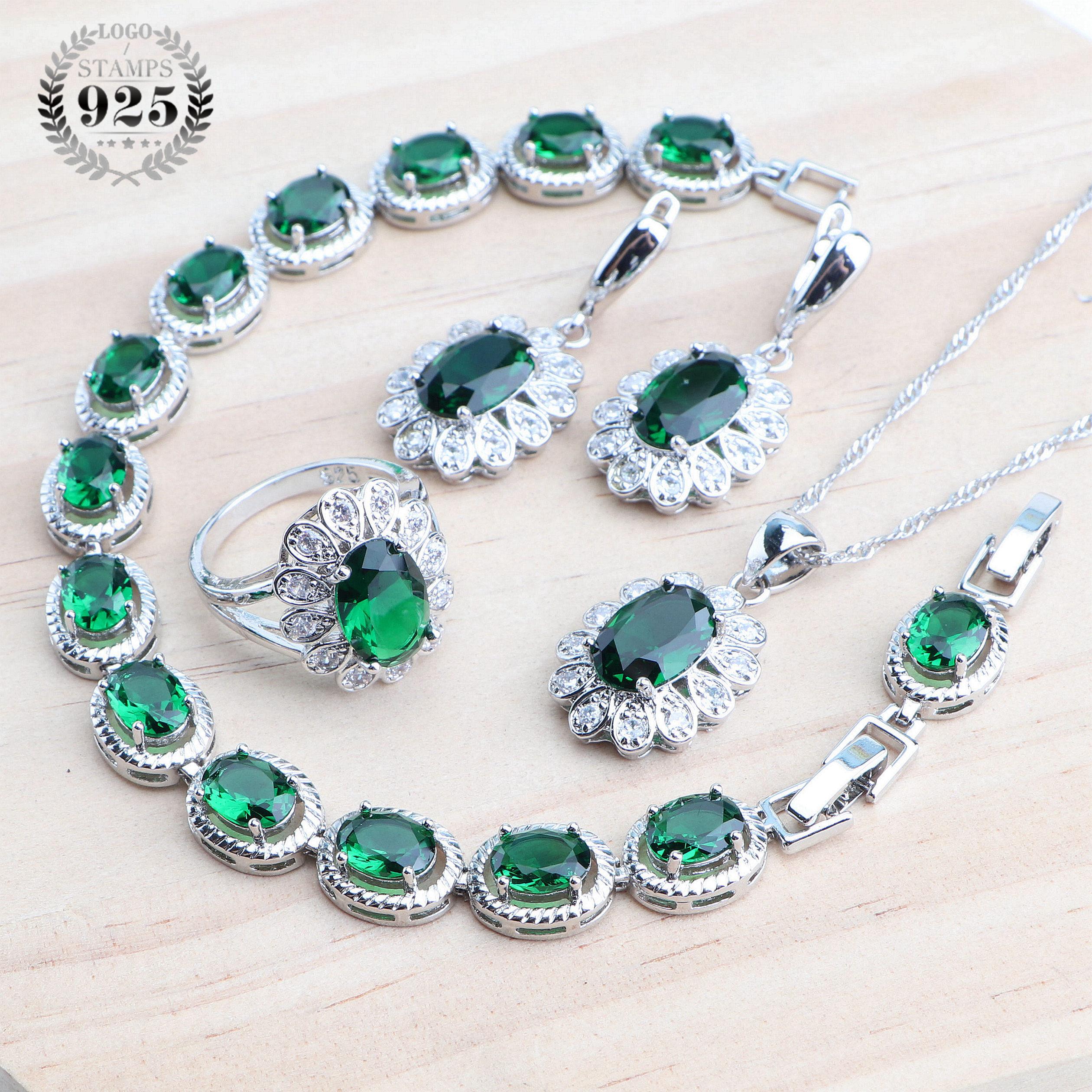 Комплект-из-колье-и-серёг-с-фианитом-серебро-925-пробы