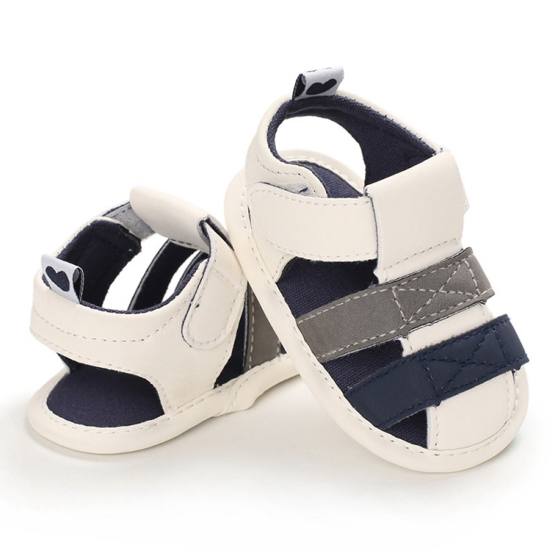 Bebê recém-nascido meninos moda verão macio berço sapatos crianças bebe meninos casual primeiro walker anti deslizamento sapatos