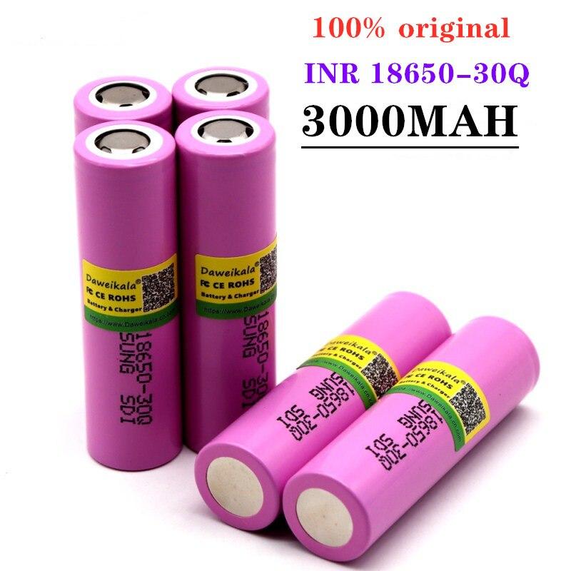 2-10 pcs INR 18650 - 30Q originais 18650 3000 MAH bateria recarregável de iões de Li bateria para cigare eletrônico lanterna