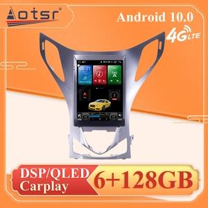 "6+128G 10.4"" Android 10 Car Radio Automotivo Head Unit For Hyundai Azera Grandeur Car DVD Player GPS Navigation Stereo 2011-2012"