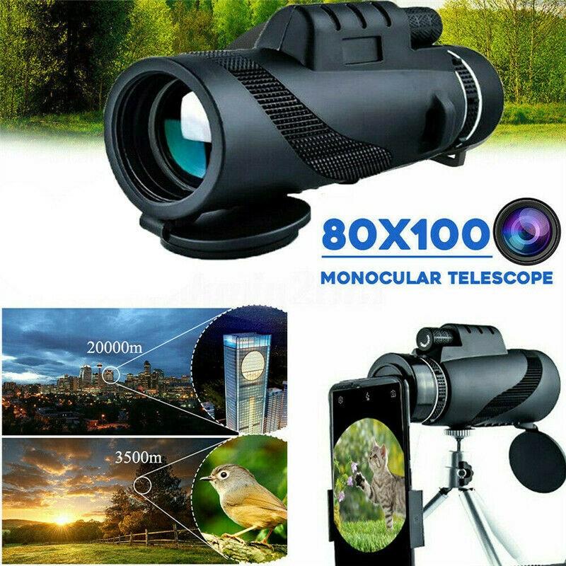 para smartphone universal portatil 80x100 hd telescopio monocular zoom da camera