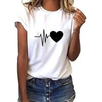 women t shirt summer new 90s heart shaped printed ladies casual graphic short sleeve t shirt oversized top tee shirts clothing