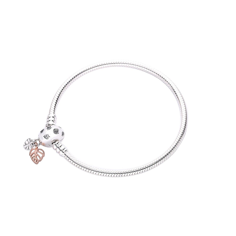 Panjia jóias rosa ouro corrente pulseira deixa fivela pulseiras feminino 588333cz
