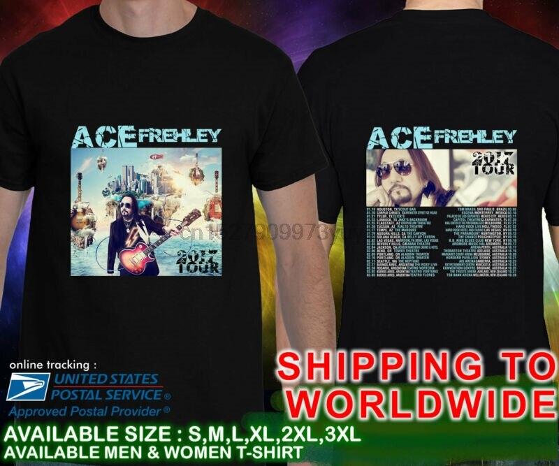 Ace Frehley Tour fechas 2017 concierto negro camiseta S-3XL